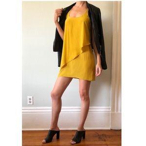 SILENCE + NOISE mustard yellow dress